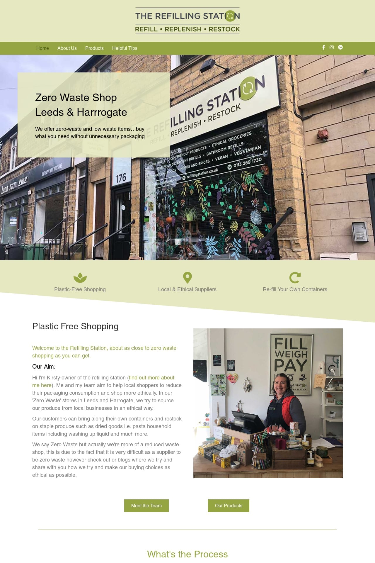 The refillingstation website screen shot in chapel allerton 4x6