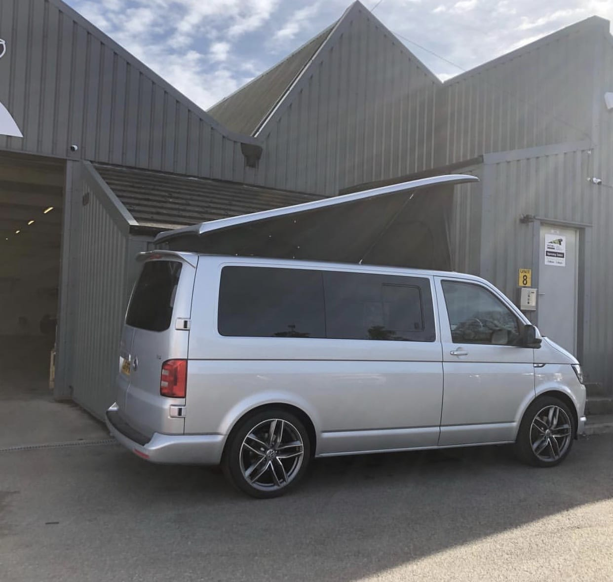 Complete Windows optional extra fitted into a VW Campervan Conversion