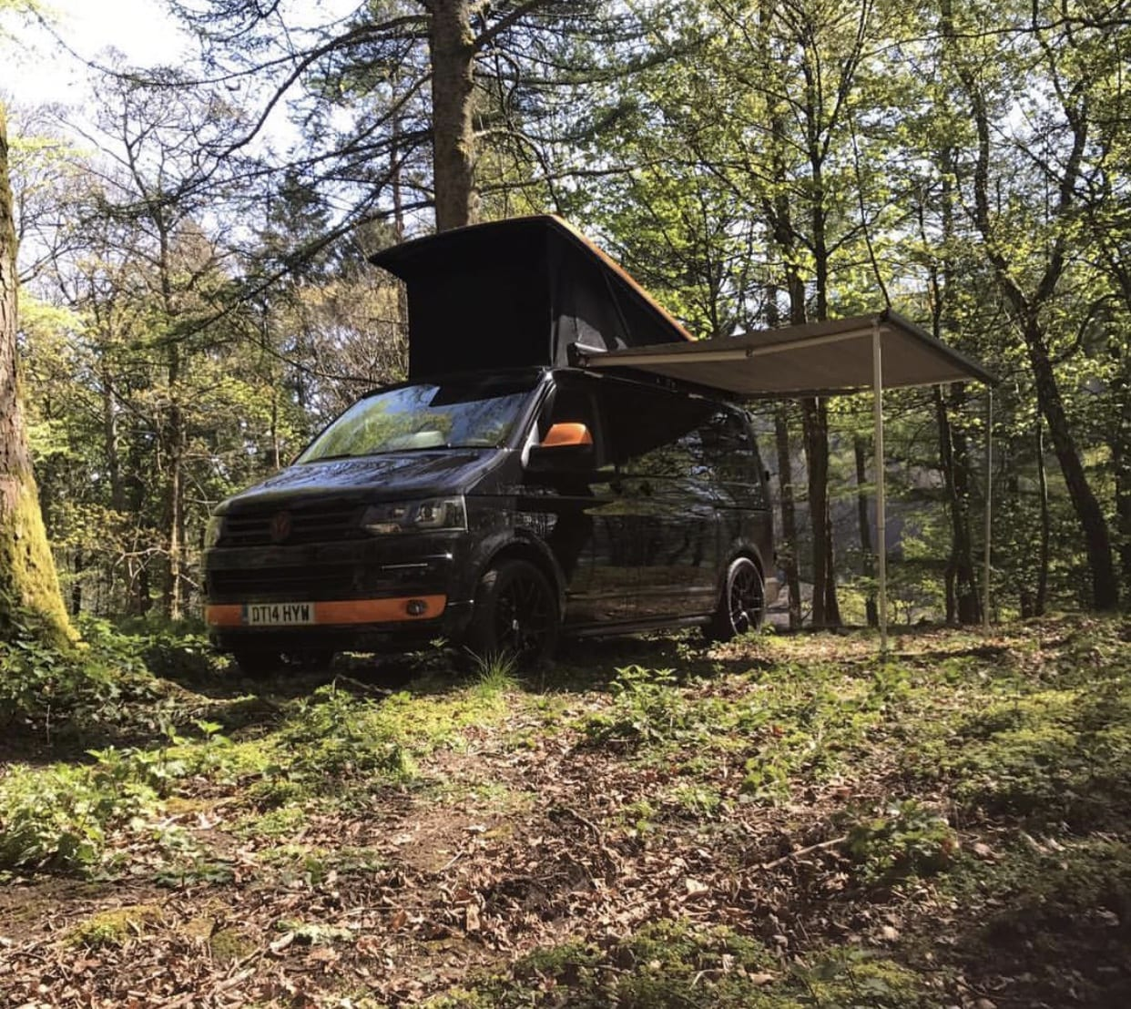 Fiamma Awning optional extra on camper van conversion