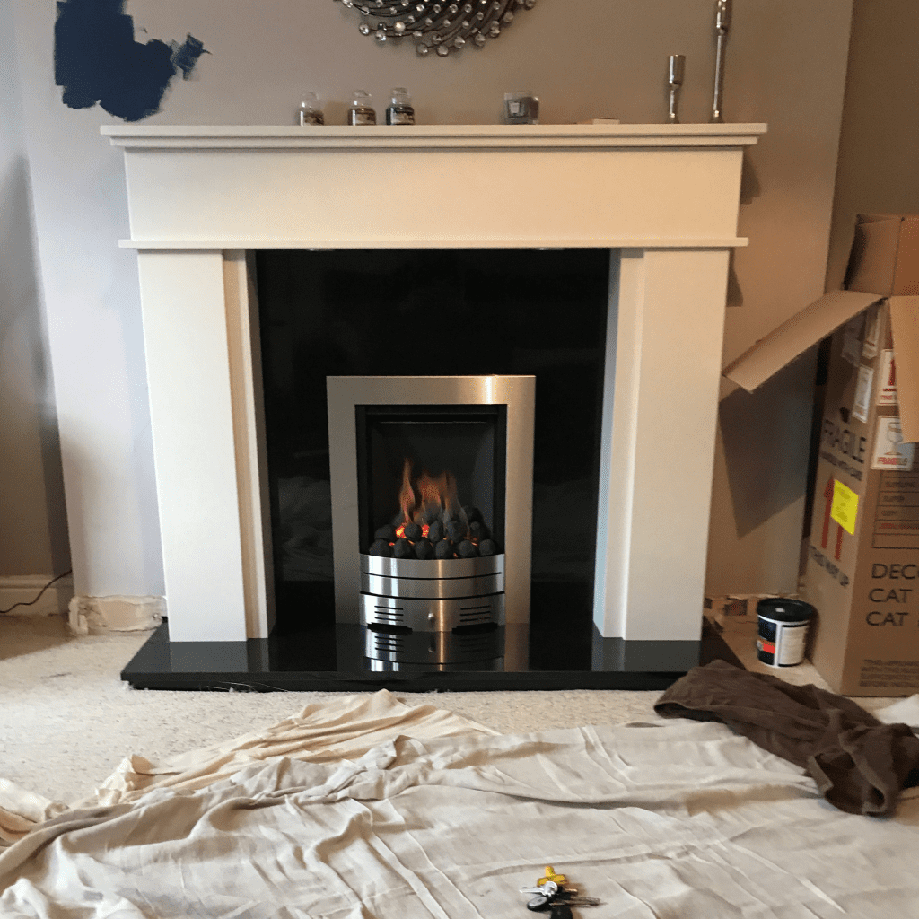 Fire Place install Square