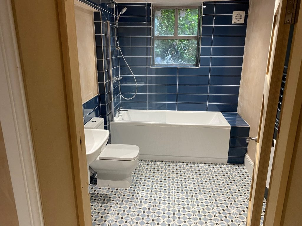 New Bathroom Installation with tiles