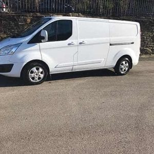 White Ford Transit flexible lease