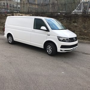 White VW Transporter for Lease