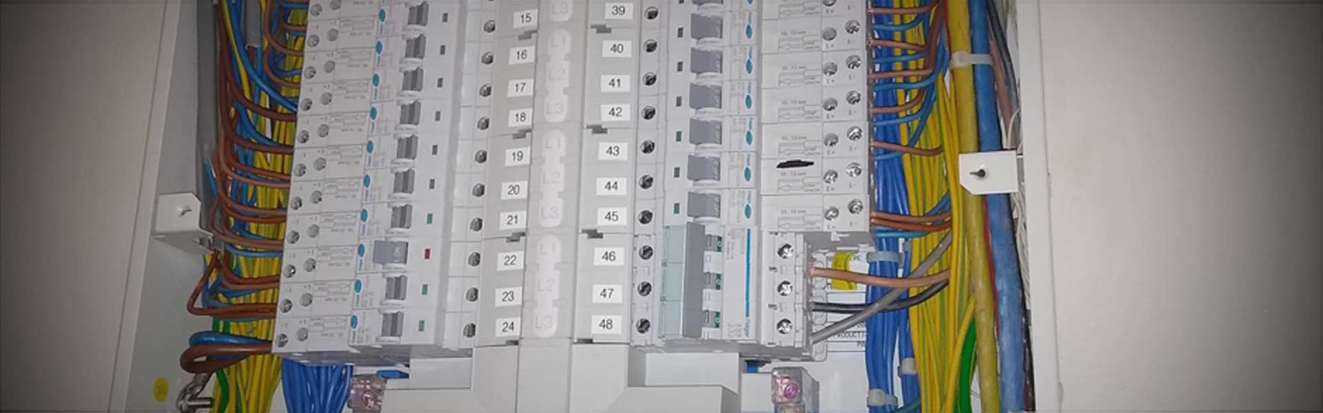 A commercial 3-phase consumer unit