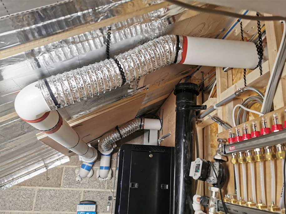 A ductwork installation