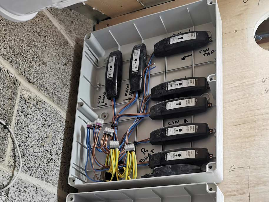 A selection of Lutron modules