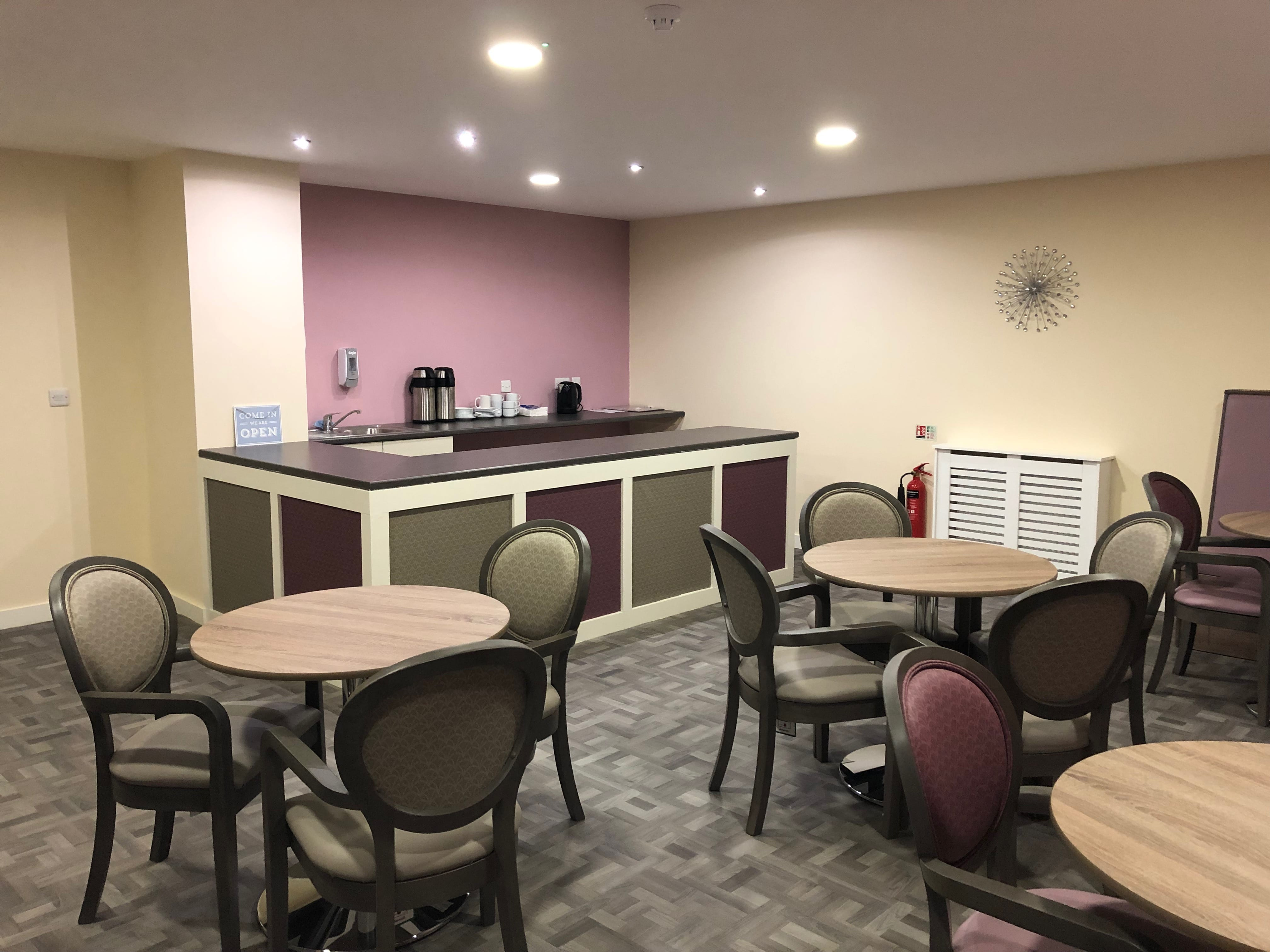 Coffee shop and bar for family and friends of residents aScissett mount care home in Huddersfield