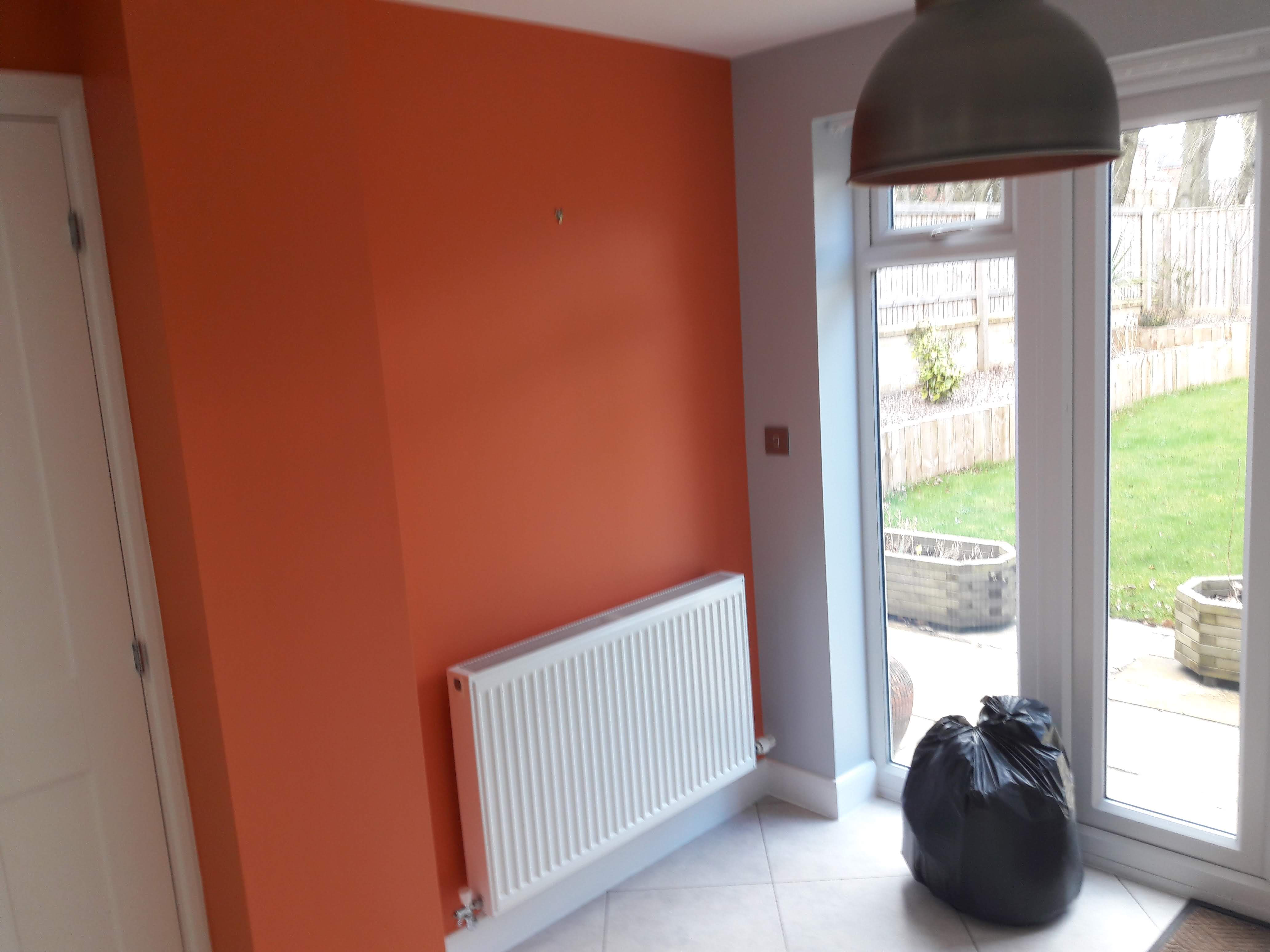 Kitchen wall painted in home by Gareth Thompson Painter & Decorator in Cookridge, Leeds