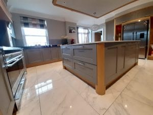 Hand painted kitchen cabinets in Harewood, Leeds by Gareth Thompson Decorators