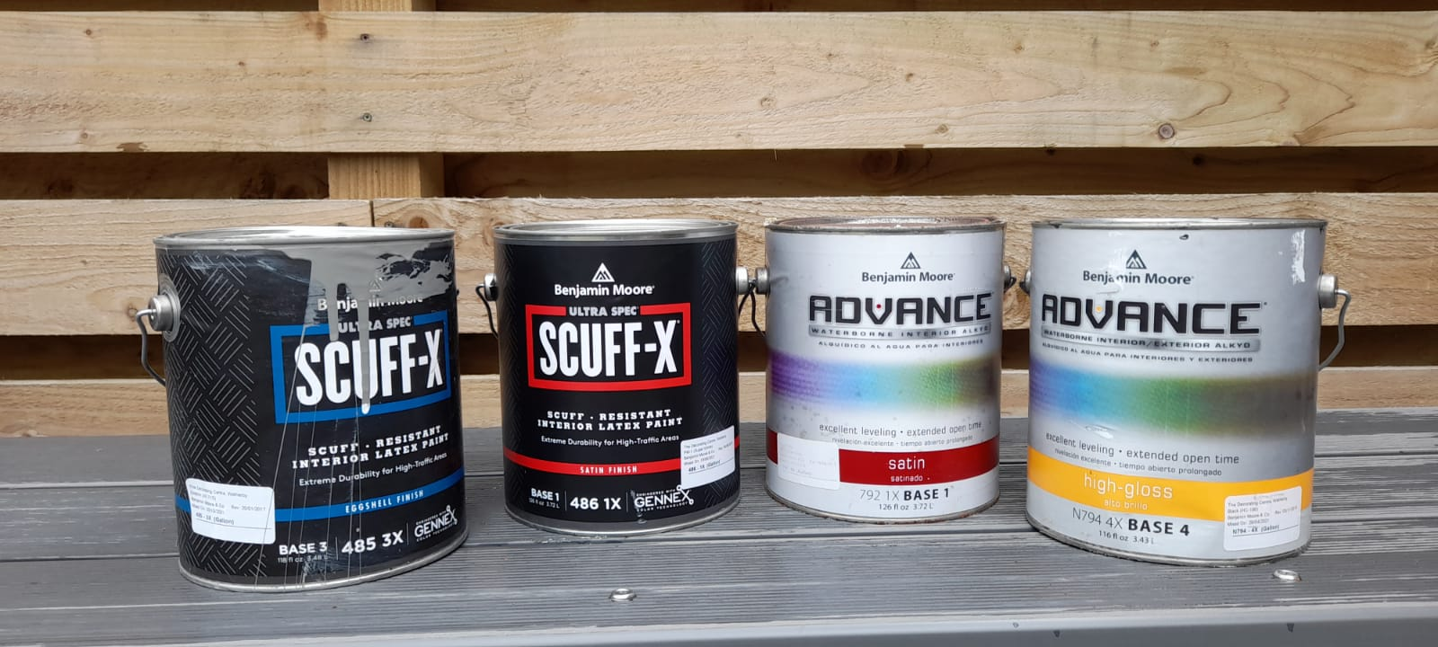 Specialist paint primers used to prime kitchen cabinets before hand painting a kitchen