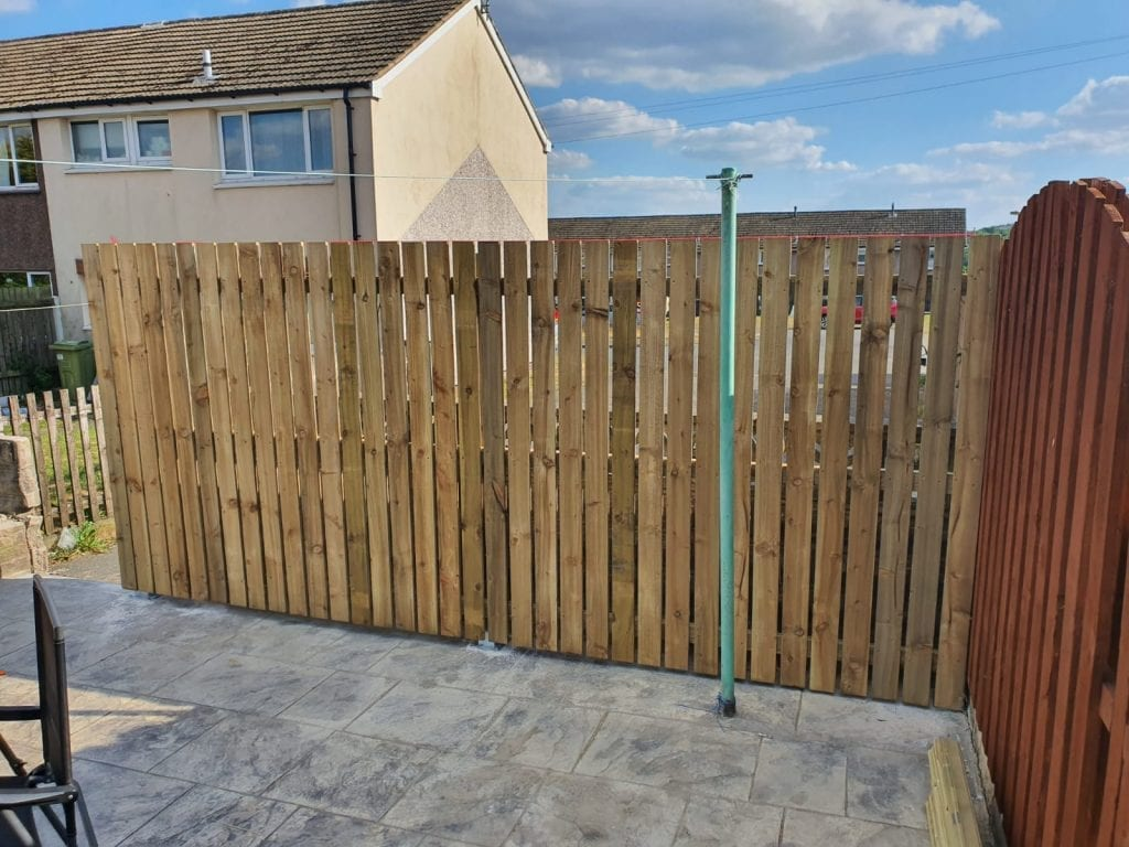New fence and flagging built in Barnsley