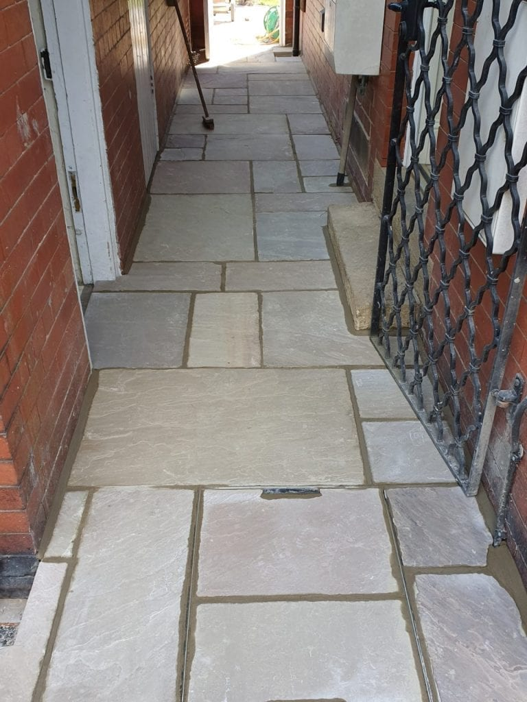 Paving laid buy landscape gardeners RBS Home Improvements in Huddersfield