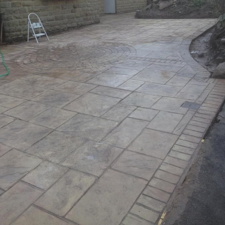 printed concrete driveway installed in Huddersfield By RBS Home Improvements