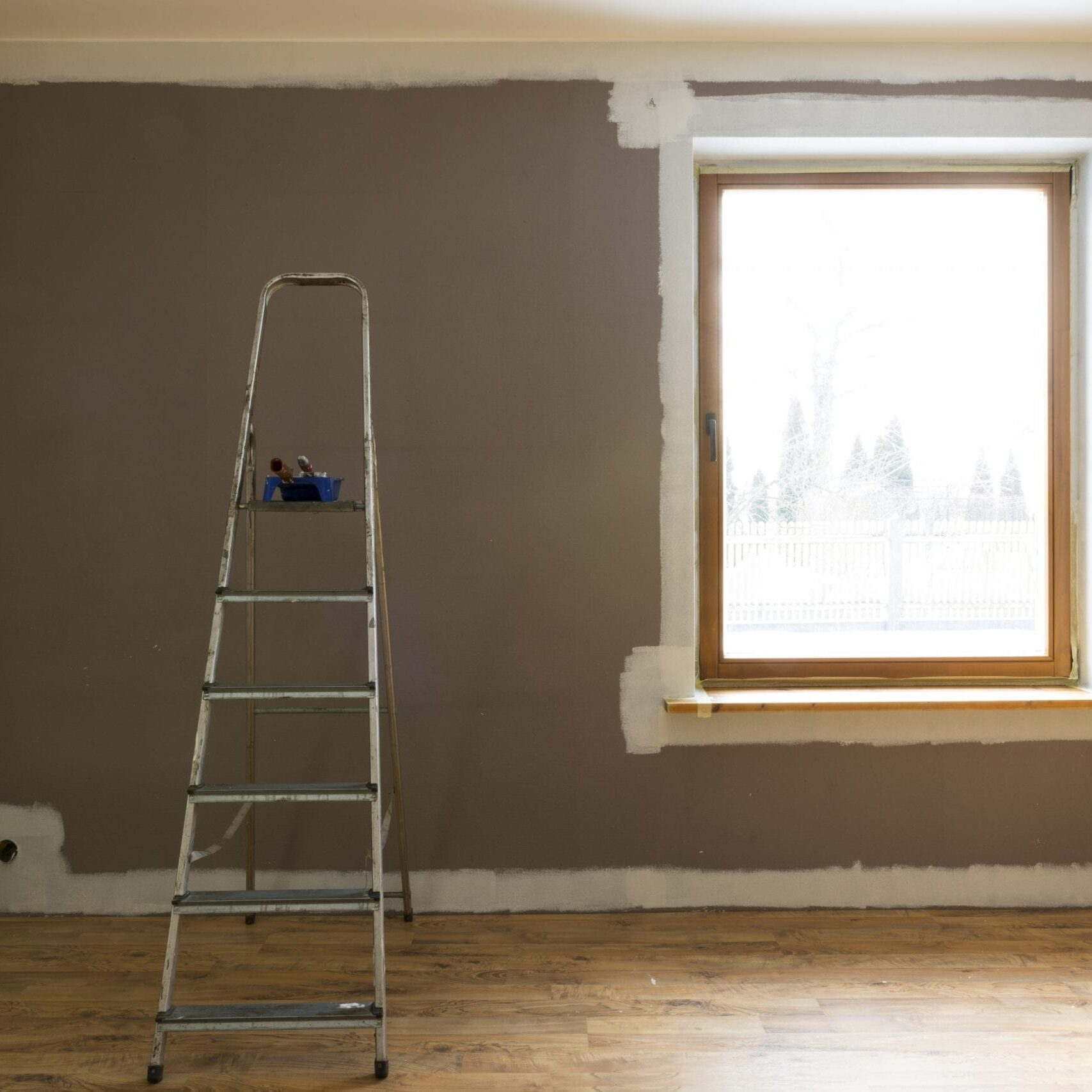 room being painted during home renovation in barnsley